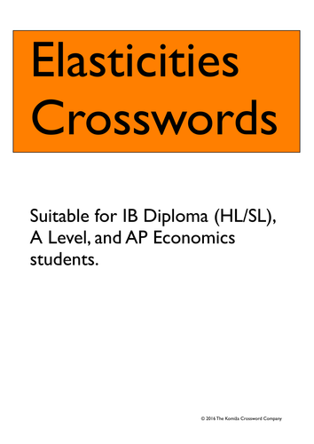 Elasticities Crosswords