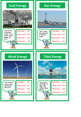Energy Sources Top Trumps