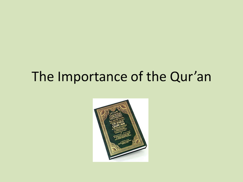 A Level Religious Studies - Concept of Allah and Origins of the Quran