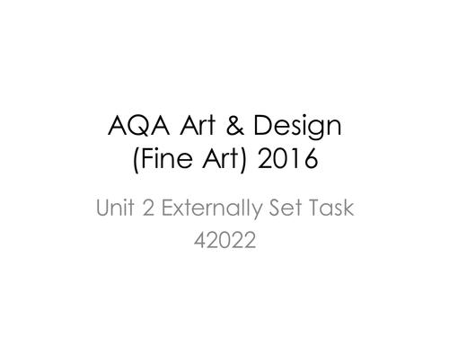 AQA GCSE Art & Design (Fine Art - 42022) Unit 2 Exam Paper 2016