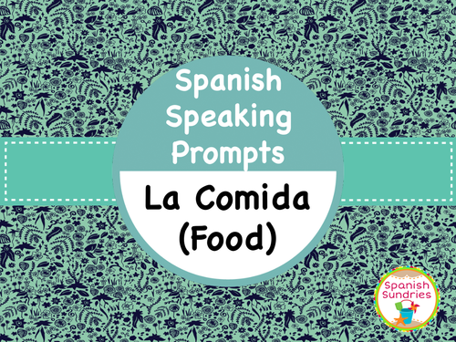 Spanish Speaking Task Cards - Food (La Comida)