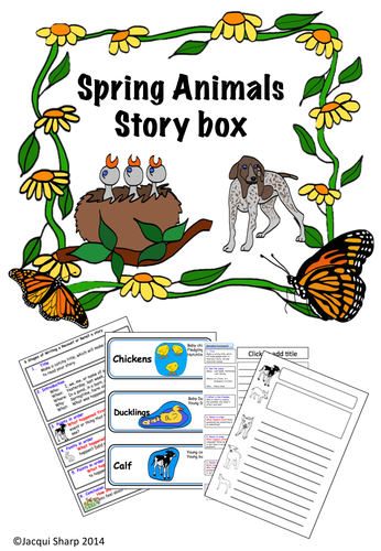 Spring Animals Storybox with Narrative and Recount frameworks