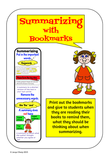 Summarizing Reading, Writing and Research strategy pack