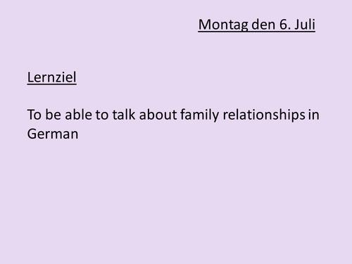 AS German Familienbeziehungen (Family)