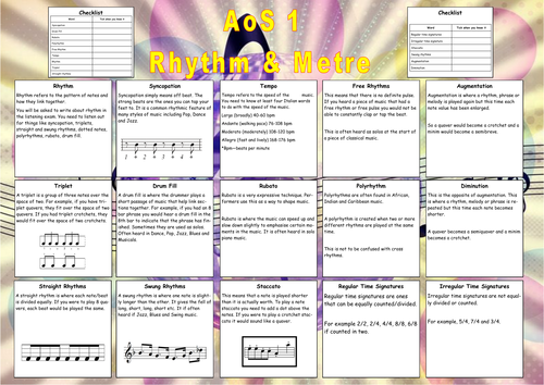Interactive Revision Posters for AQA GCSE Music (last year of specification)