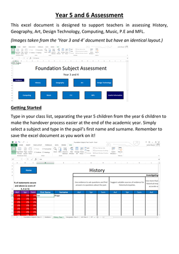 Foundation Subject Statement Assessment 2014 Curriculum Year 5 and Year 6