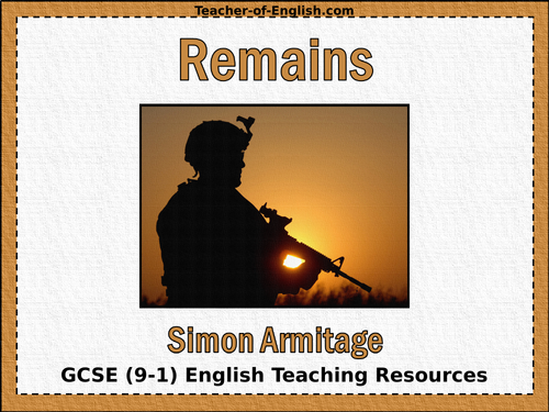 Remains by Simon Armitage by Teacher-of-Primary - Teaching ...