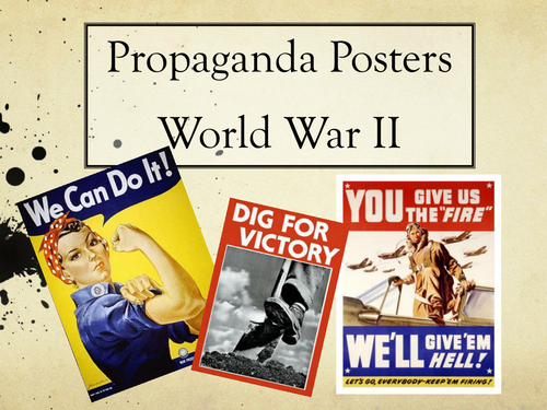 World War 2 Art & History SOW - Propaganda, Printmaking &  Drawing  Cross-Curricular KS3 TWO II