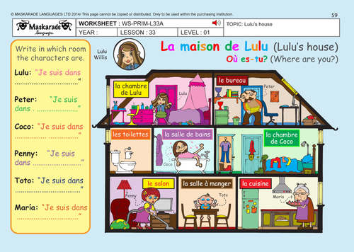 French ma maison essay for A la maison translation