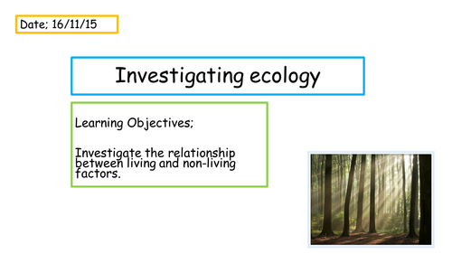 Ecology Investigation