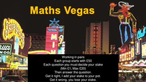 Maths Vegas Mega Revision Packs 1-5
