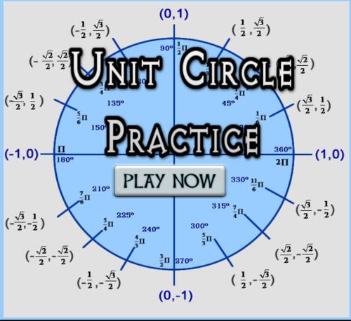 Sine and Cosine Values Unit Circle