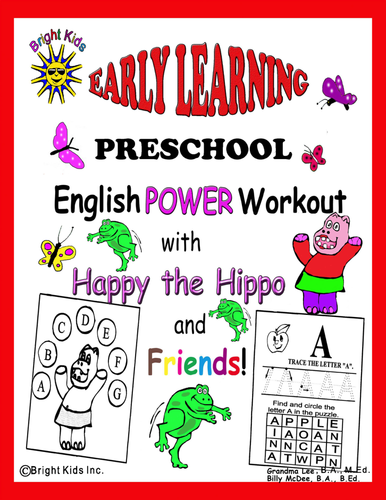 Bright Kids Preschool Word Power Workout! Save Time Just Print and Teach!
