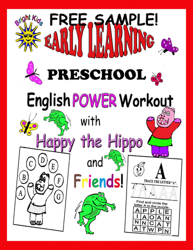 Bright Kids Preschool Word Power Workout! Save Time Just Print and Teach! FREE SAMPLE!!