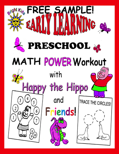 Bright Kids Preschool Math Power Workout! Save Time Just Print and Teach! FREE SAMPLE!!