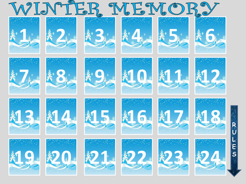 Winter Memory Game