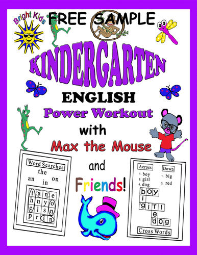 Bright Kids Kindergarten English Word Power Workout - Save Time! Just Print & Teach! - FREE SAMPLE