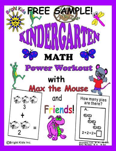 Bright Kids Kindergarten Math Power Workout - Save Time! Just Print & Teach! FREE SAMPLE!