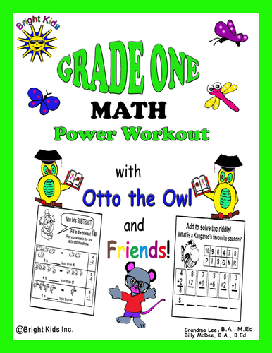 Bright Kids Grade 1 Math Power Workout - Save Time! Just Print & Teach!