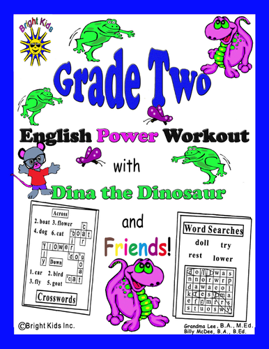 Bright Kids Grade 2 English Word Power Workout - Save Time! Just Print & Teach!