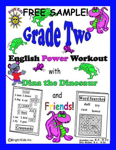 Bright Kids Grade 2 English Word Power Workout - Save Time! Just Print & Teach! FREE SAMPLE!