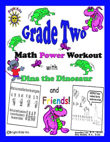Bright Kids Grade 2 Math Power Workout - Save Time! Just Print & Teach!