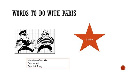 Unit of work for AQA Lit+Lang Paris Anthology