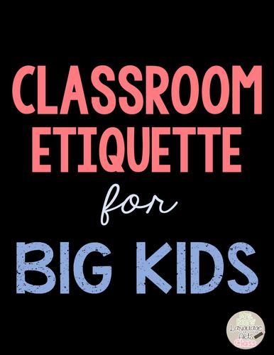 Classroom Etiquette Reader's Theater Grades 4-8