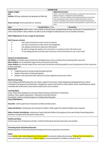 KS2 English - Connectives and explanation texts