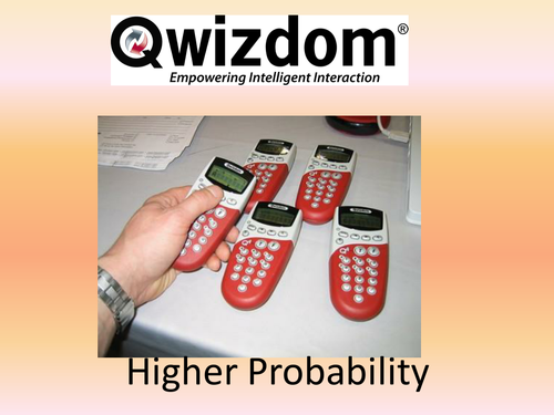 Maths QWIZDOM Powerpoint - Probability Higher topics Revision Quiz