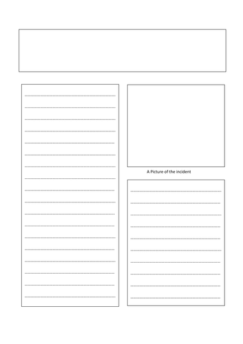 A3 Newspaper Template By Engageinenglish Teaching Resources Tes