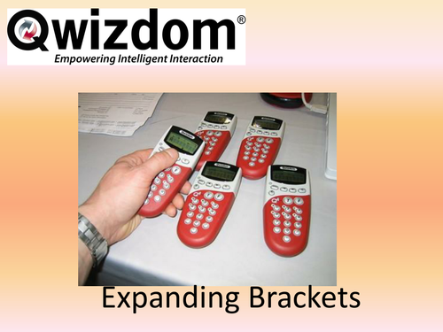 Maths QWIZDOM Powerpoint - Expanding Single Brackets Revision Quiz