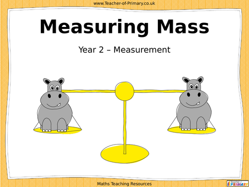 Measuring Mass Year 2 PowerPoint and worksheets by Teacherof – Mass Worksheet