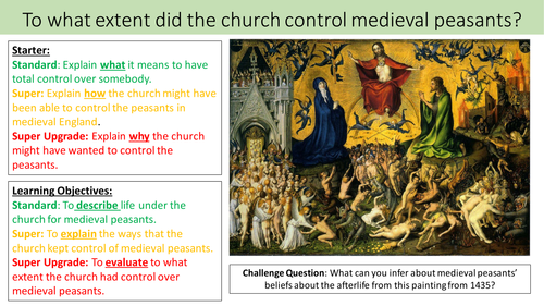 To what extent did the church control medieval peasants - Medieval Christianity