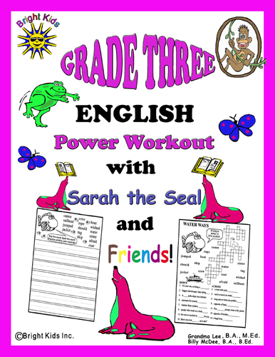 Grade 3 English Word Power Workout - Save Time! Just Print and TEACH!!