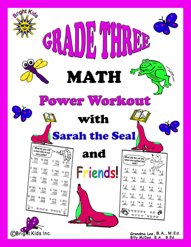Bright Kids Grade 3 MATH Power Workout - Save Time! Just Print and TEACH!!