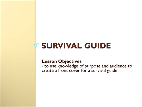 Writing for Purpose and Audience - Survival Guide 1
