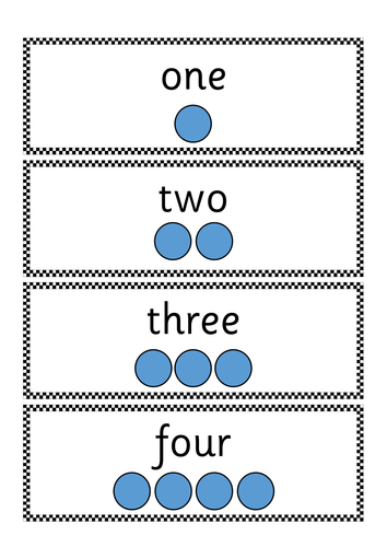 1-8 peg counting cards