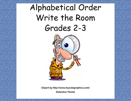 Write the Room-Scavenger Hunt-Alphabetical Order to Third Letter-Grades 2-3