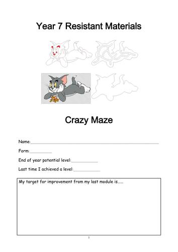 Year 7 plastics maze work booklet