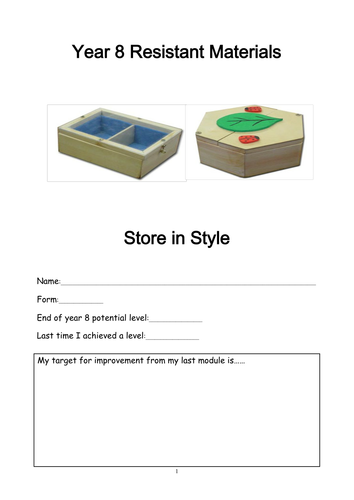 Year 8 woodwork booklet