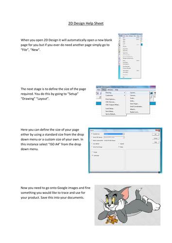 2D Design help sheet