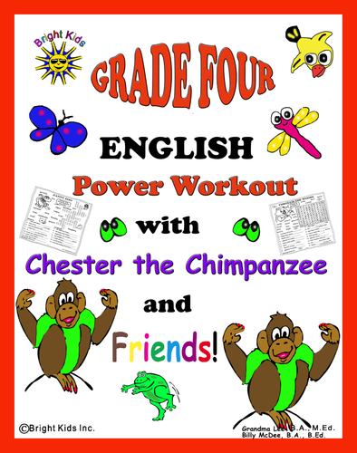 BRIGHT KIDS GRADE 4 ENGLISH WORD POWER WORKOUT!! Save Time! Just Print and TEACH!