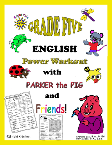 Bright Kids Grade 5 English Word Power Workout - Save Time! Just Print and TEACH!!