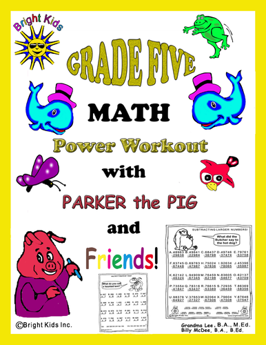 Bright Kids Grade 5 MATH Power Workout - Save Time! Just Print and TEACH!!