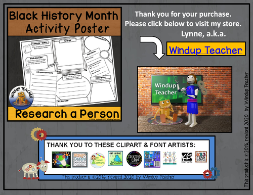 Black History Month Activity Sheet by WindupTeacher