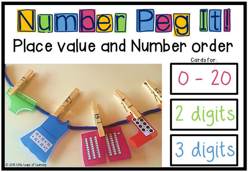 Number and Place Value Peg It!