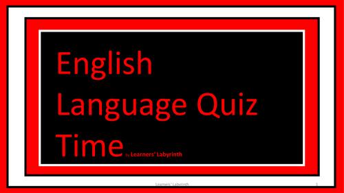 SPAG- English Language Quiz