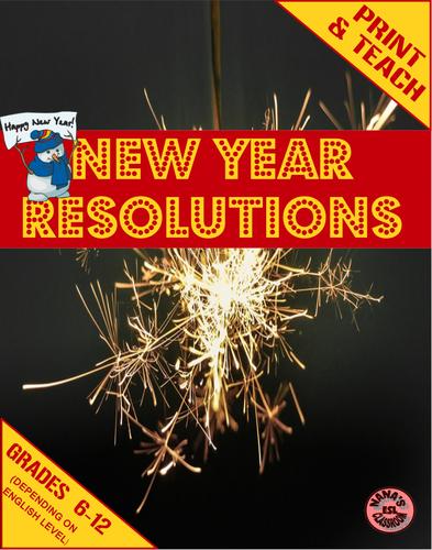 ♥ESL♥ NEW YEAR RESOLUTIONS » Mini Units for ESL Students