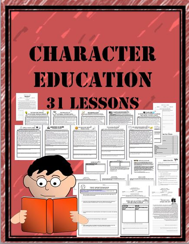Character Ed. Workbook 32 lesson packet